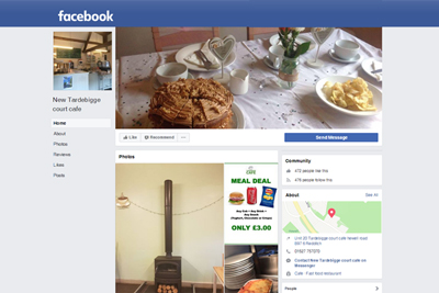 Link to Tardebigge Court Cafe Facebook page